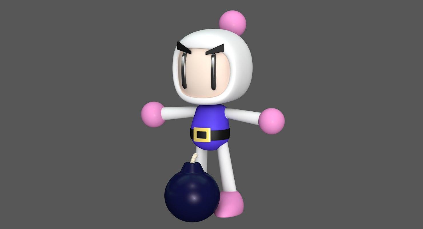 3D shiron bom super bomberman model