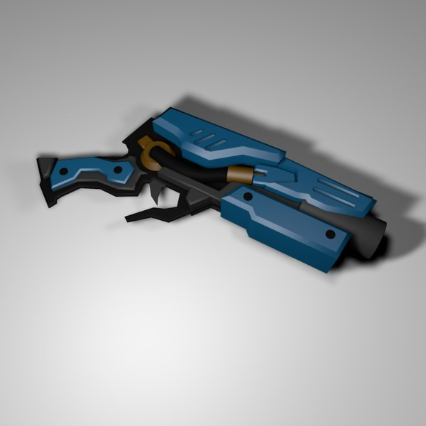 handgun weapon 3D
