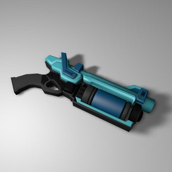 handgun gun 3D model