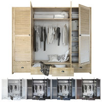 Wardrobe with clothing