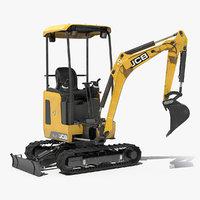 mini excavator 18z1 clean 3D model