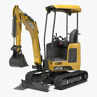 mini tracked excavator dirty 3D model