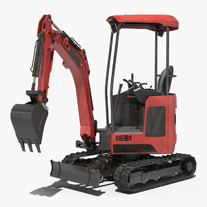 tracked mini excavator generic model