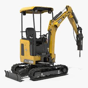 tracked mini excavator 18z1 3D model