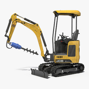3D tracked mini excavator 18z1 model