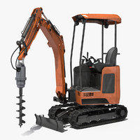 3D tracked mini excavator drill
