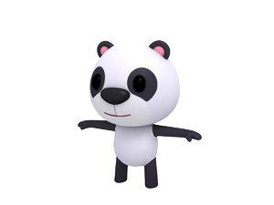 3D cartoon panda model