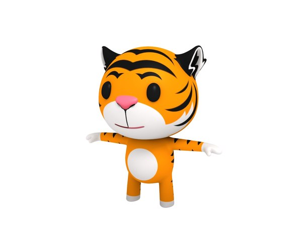 3D cartoon tiger model