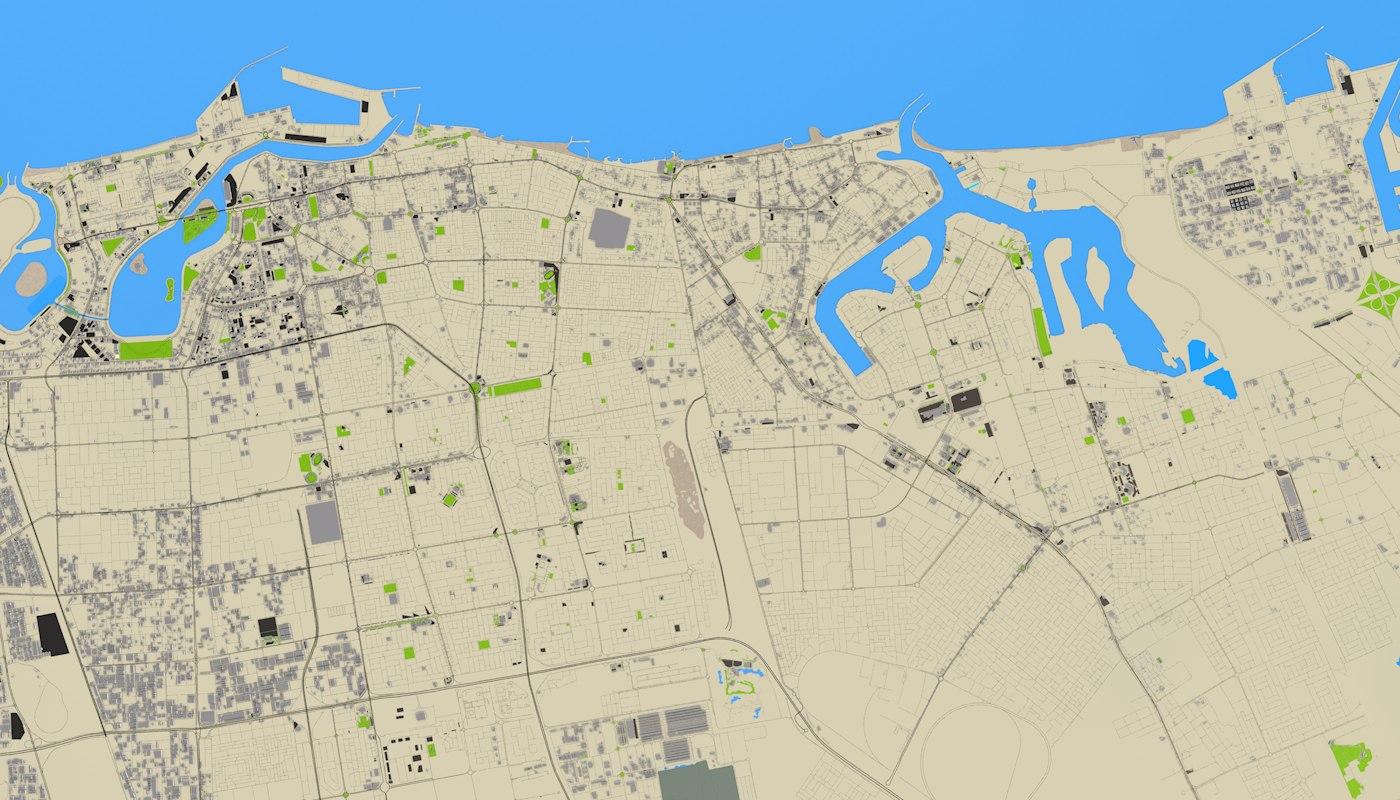DUBAI ABUDHABI 3D MODEL
