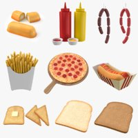 Food Collection 3D Models