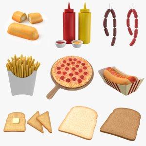 hot dog 3D model