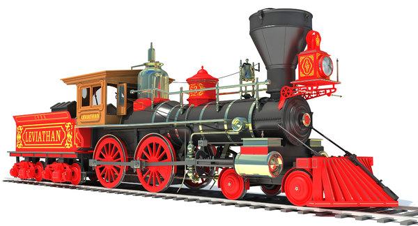 3D leviathan steam locomotive