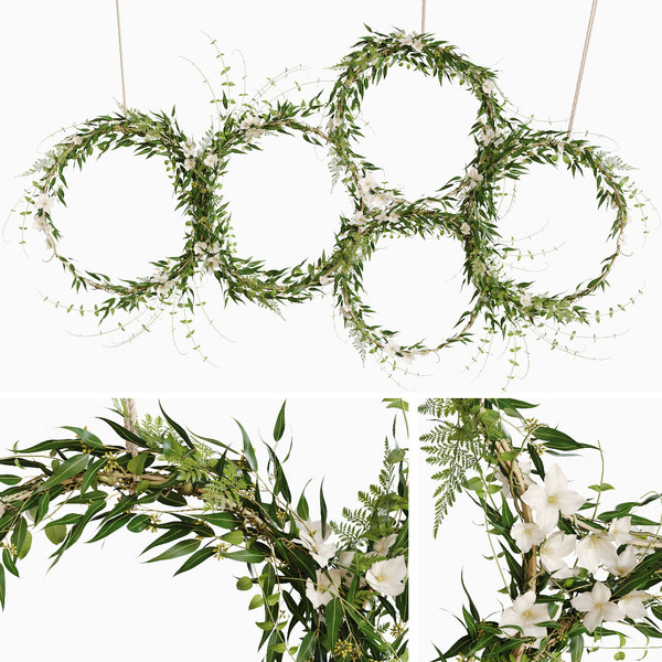 green wreaths model