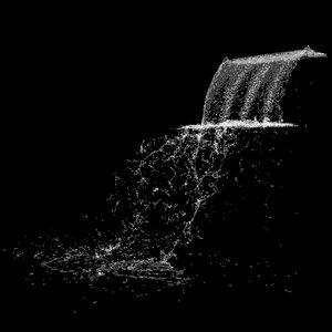 3D fall water waterfall
