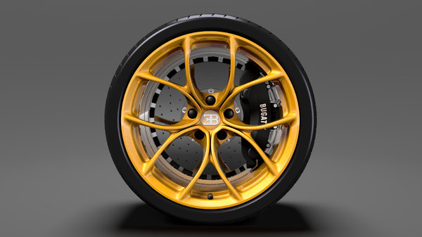 bugatti chiron wheel 3D model