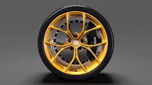 bugatti chiron wheel 3D model