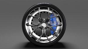 bugatti chiron wheel 2 3D model