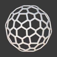 3D honeycomb sphere