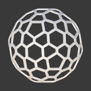 3D honeycomb sphere
