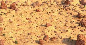 desert environment 3D model