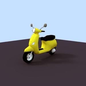3D vespa bike model