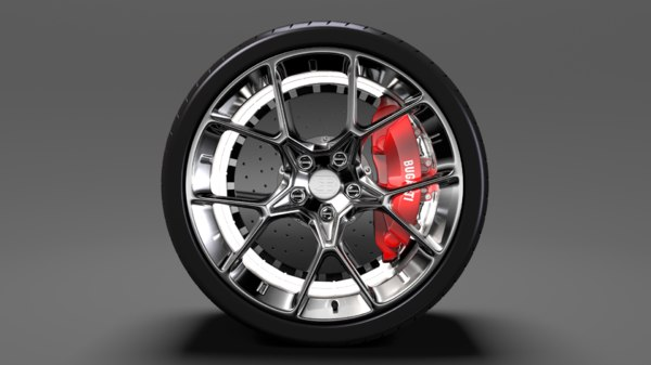 bugatti chiron wheel 4 3D model