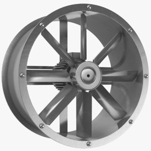 3D axial flow water turbine