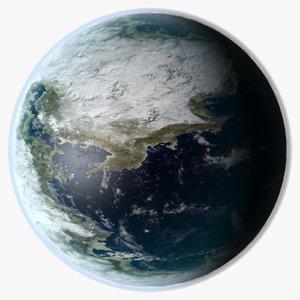 3D fantasy planet