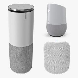 3D model smart speakers