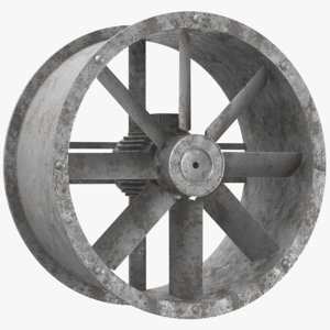 rusted water turbine model