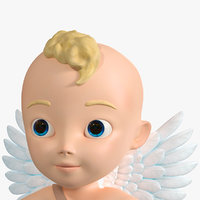 3D cartoon baby boy cupidon