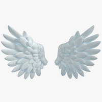 cartoon angel wings model