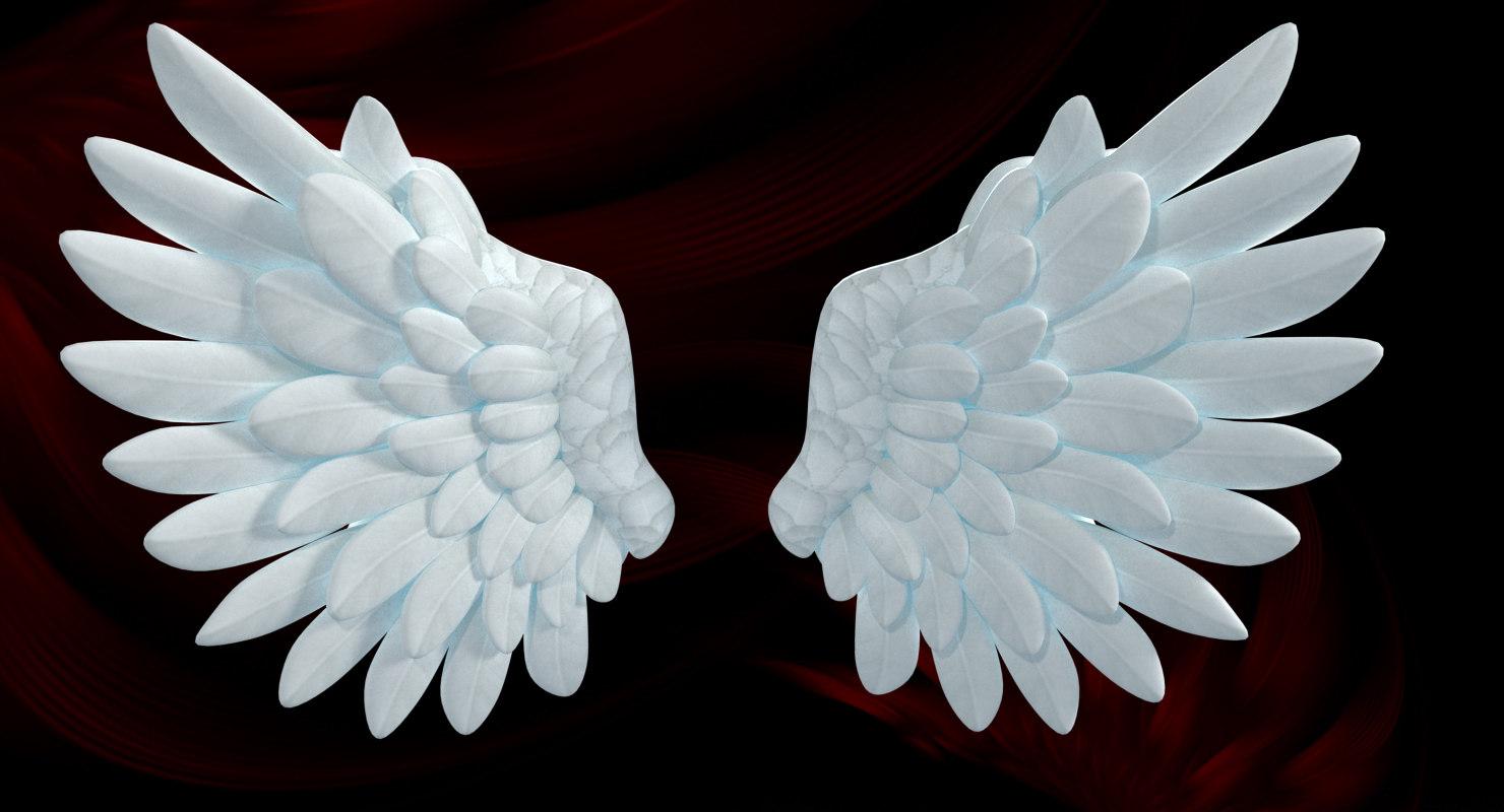 cartoon angel wings model