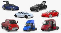 tesla cars big 2 3D model