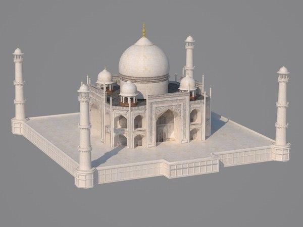 3D model architecture mausoleum