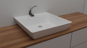 modern water tap 3D model