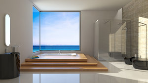 bathroom sea model