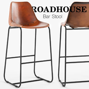 3D model roadhouse bar stool