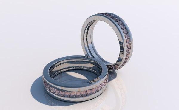 3D ruby ring model