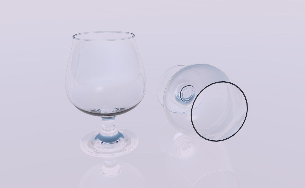 crystal glass model