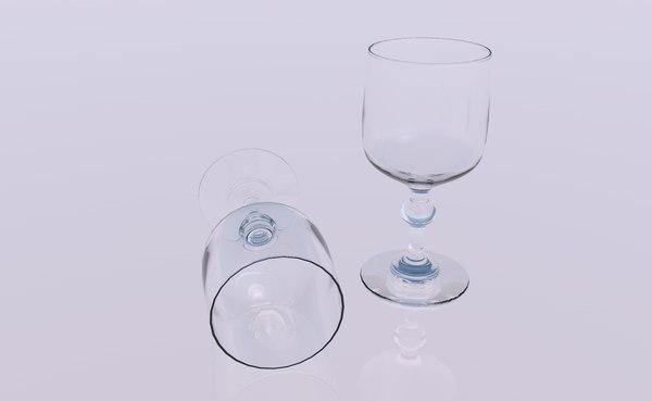crystal glass 3D model