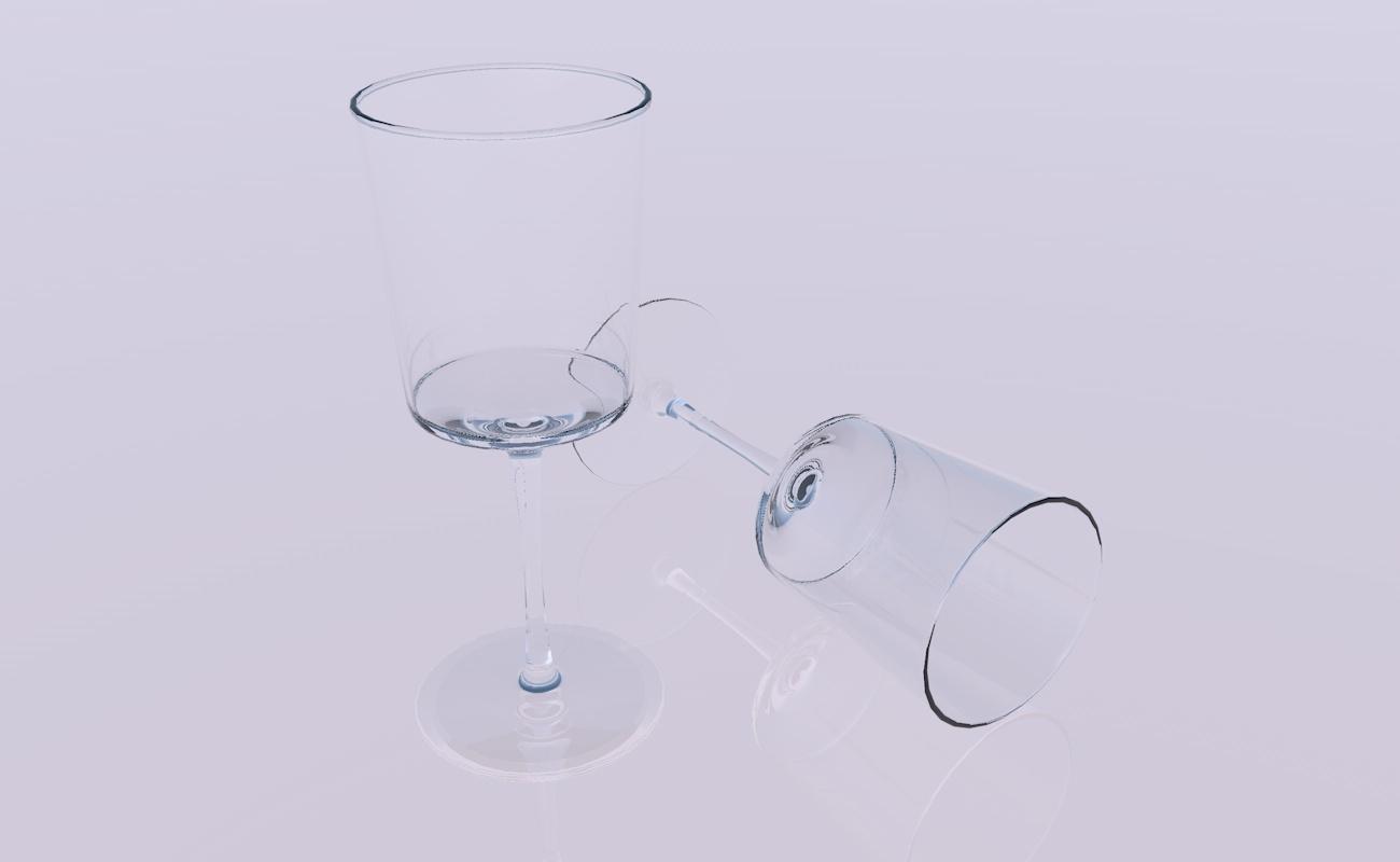 3D crystal glass model