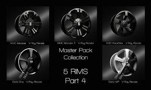 3D rims master pack part4 model