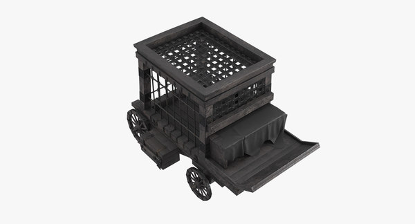 medieval prisoner trolley 3D model