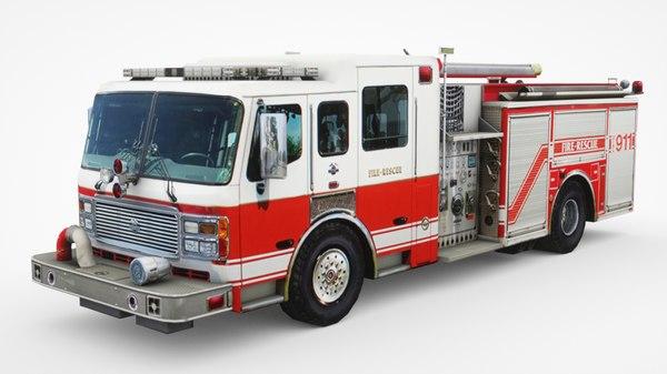 3D american lafrance rescue pumper model