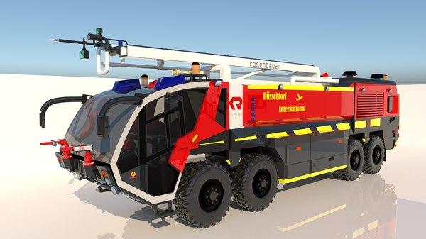 firetruck airport truck 3D model