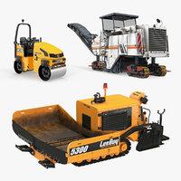 3D road asphalt machinery machine