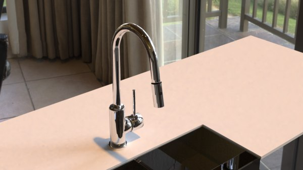 single faucet 3D