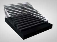 3D model stadium soccer bleacher