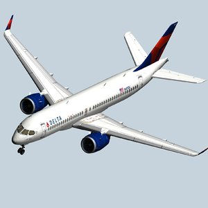 latest delta airlines airbus 3D model